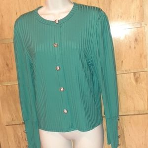 NWOT Fancy Over The Head Blouse
